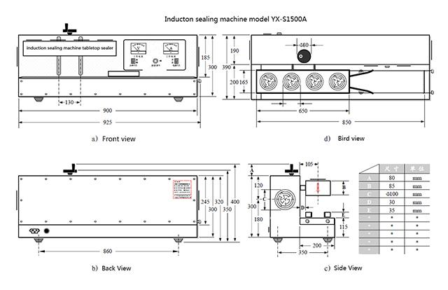 dimension of tabletop sealing machine induction sealer.jpg