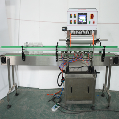 4-head linear sealer equipment aluminum foil PE laminated single film sealing machine fully automatic for jars containers bottles