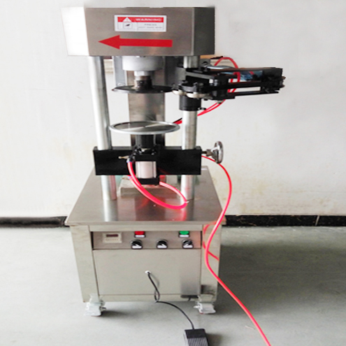 pneumatic cans sealing machine large tin can sealer equipment semi automatic metal caps capping machinery