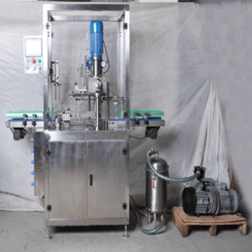 vacuum cans sealing machine with nitrogen gas flushing infilling funtion Milk powder cans tins sealing seaming equipment fully automatic