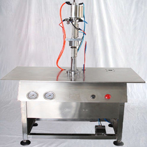 aerosol cans sealing crimping machine semi automatic can crimper equipment for air fresher gas spray paint