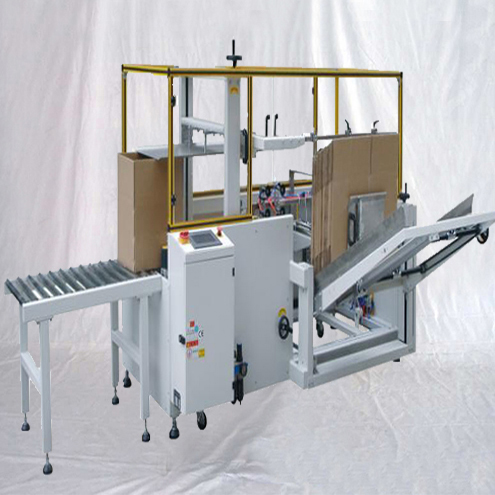 Vertical carton forming erecting bottom sealing machine fully automatic boxes cases erector sealer line