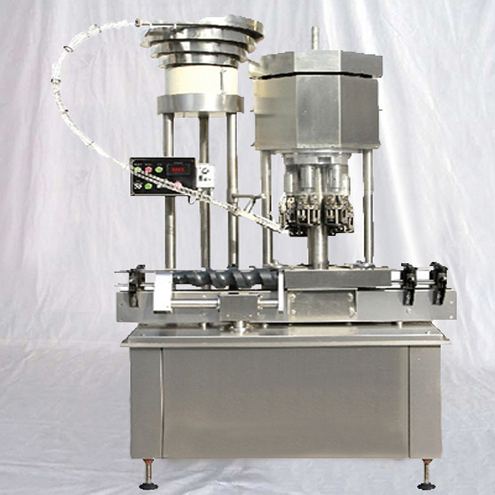 Ropp caps sealing machine multi heads glass bottles with metal Roll On Pilfer Proof cap sealer screw capper equipment high speed pharmaceutical machinery