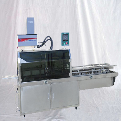 automatic linear small snack boxes sealing machine hot melt glue box closing sealer equipment