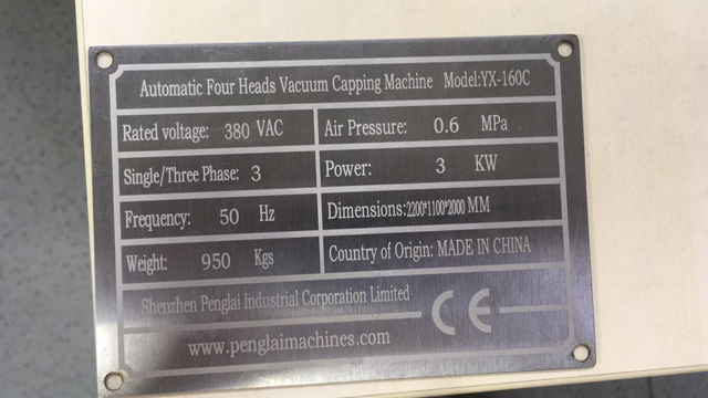 name plate for vacuum capper model YX-160C.jpg