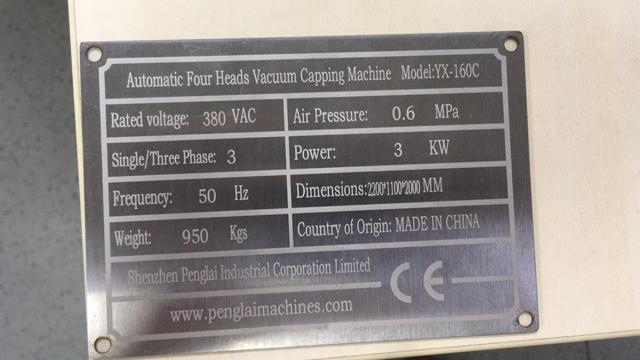 name plate for vacuum capper model YX-160C.jpg