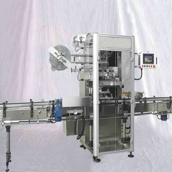 Caps heat shrinking sealing machine automatic customized film heating shrinkage sealer wrapper with lifting feeding system
