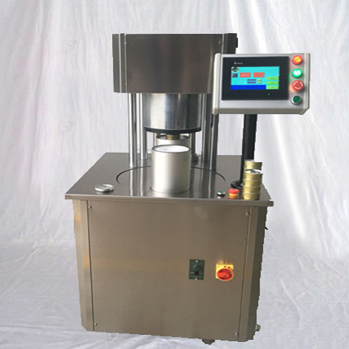 tabacco cans seaming machine metal tin sealing equipment semi automatic with N2 flushing function