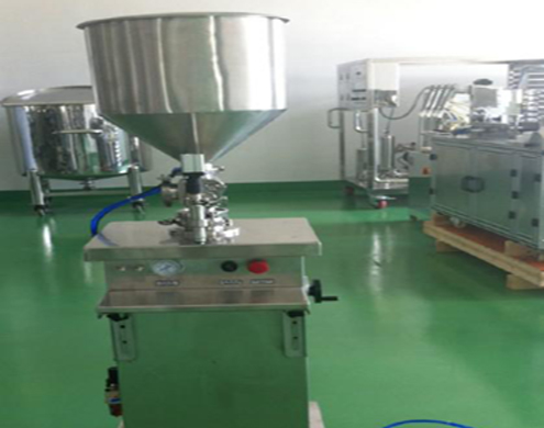 Vertical cream filling machine single head semi automatic filler equipment for paste ointment