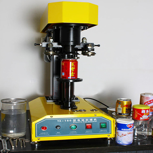 Tabletop can sealing machine semi automatic benchtop desk model metal PET paper aluminum can sealer equipment drinking packaging