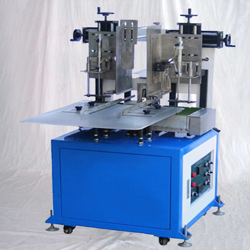 Semi automatic hot melt glue boxes sealing closing machiine stand type small case hotmelt glue in use sealer equipment