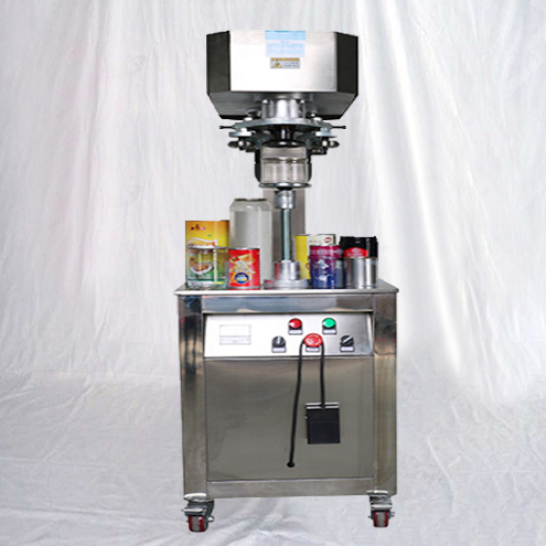 semi automatic stand-up type cans sealing machine vertical metal tins sealer electric-driven non-pneumatic closing equipments