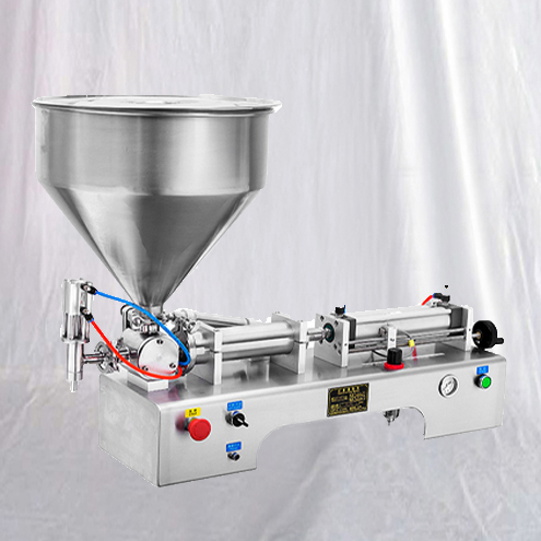 pneumatic filling machine semi automatic oil liquid cream filler equipment with materials storage hopper