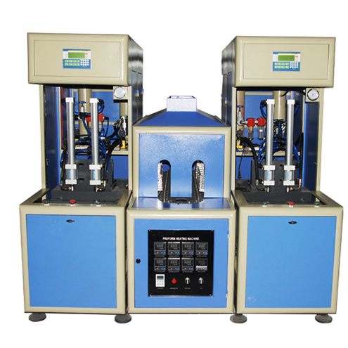 PET bottles blowing machine semi automatic 2 cavity bottle making equipment mineral water oil containers