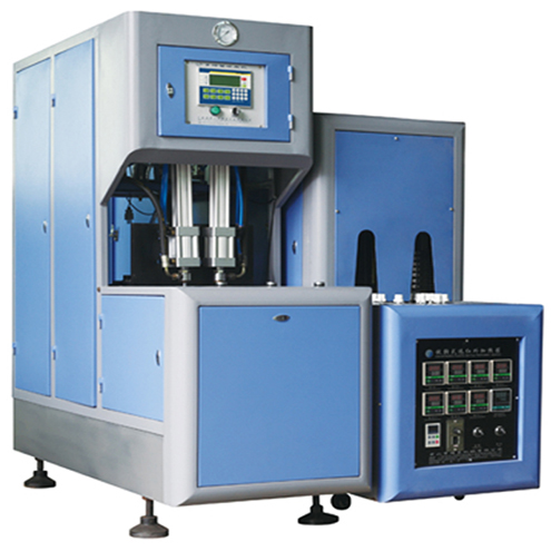 stretch blow molding machine PET bottles blower equipment semi automatic two cavity container blowing machinery