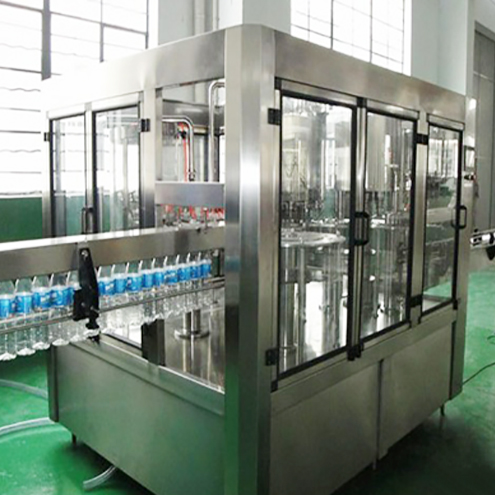 Mineral water rinsing filling capping line rotary small bottles rinser filler capper machinery 12-12-5 monoblock
