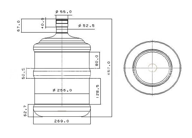 5 Gallon Water Bottle Pet Blowing Machine Semi Automatic