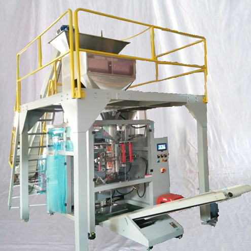 Tube Ice block packing machine 5KG bagging packaging equipment large bags VFFS machinery for fishing processing