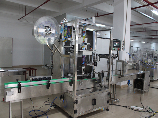 sleeve labeling machine with shrink tunnel pictures (9) mode