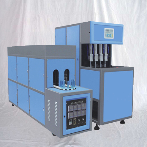PET bottles blowing machine semi automatic 4 holes blower moulding equipment with preform heater